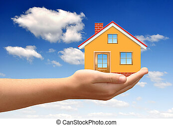 The house in hands
