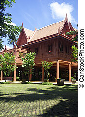 the house in Thai style used from wood