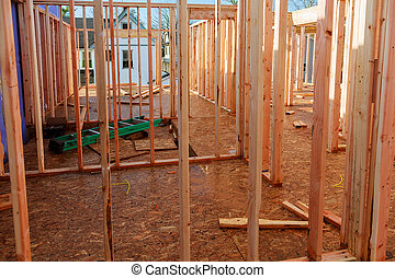 Single Family Home Construction - Building a New Wood Framed House