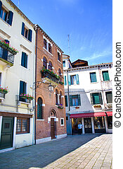 The house of Antonio Lucio Vivaldi. Venice, Italy - The...