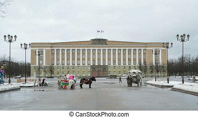 Sophia square, Veliky Novgorod, Russia - The house of...