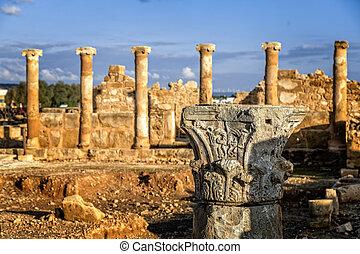 The House of Theseus, Roman villa ruins at Kato Paphos ...