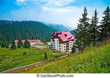 The houses and hotels in Bulgaria - The panorama view of...