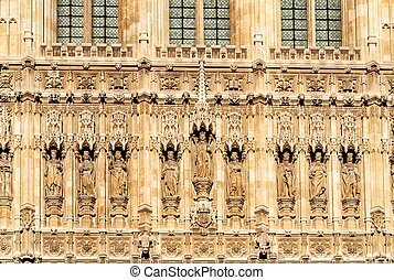 The Houses of Parliament. London. UK, detail