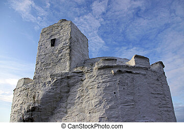 The Huer's Hut at Newquay Bay, Land's End, UK