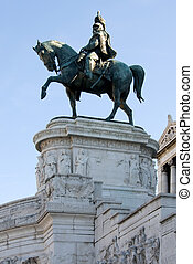 Victor Emmanuel - The huge equestrian sculpture featuring ...