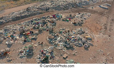 The huge garbage dump, the ecological disaster of our planet...