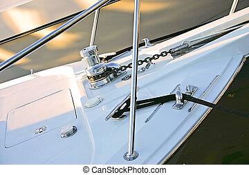 the hull of a sailboat