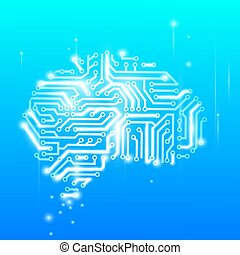 the human brain as a computer chip