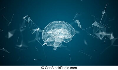 The human brain is formed by spinning particles.
