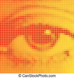 The human eye close-up.