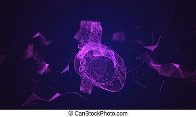 The human heart is formed by spinning particles.