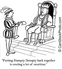 """The humpty dumpty project is expensive - """"Putting Humpty..."""