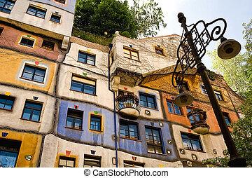 The Hundertwasser House in Vienna, Austria