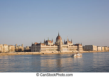 The Hungarian parliament.