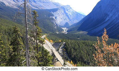 Icefields Highway through Rocky Mountains - The Icefields...
