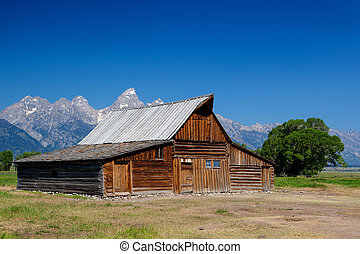 The iconic Moulton barn in Grand Teton National Park,