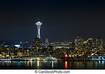 Seattle Skyline at night - The iconic Seattle Skyline at ...