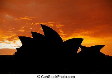 Sydney Opera House - The iconic Sydney Opera House in...
