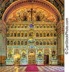 The iconostasis of the cathedral in Uzhgorod