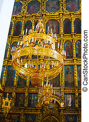 The iconostasis. The interior of the Church.