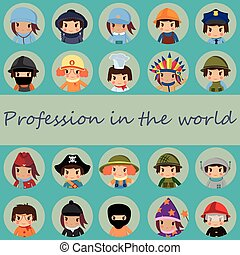 the icons world of professions