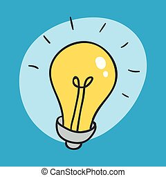 The Idea Bulb Icon. Unexpected Idea Sign and Symbol....