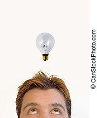 The idea! - Man having an idea!