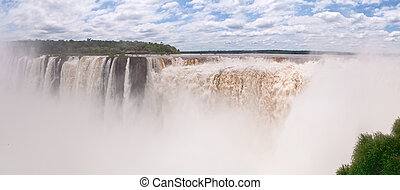 The Iguacu falls in Argentina Brazil