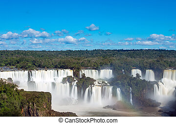Iguazu falls in Argentina - The Iguazu falls in Argentina,...