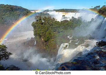 The Iguazu falls in South America