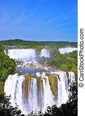 The Iguazu Falls on the Brazilian side - Multi-tiered...