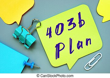 The image contains the inscription 403b Plan on a notepad sheet.