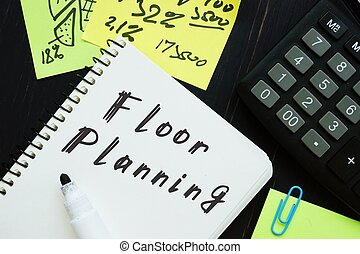 The image contains the inscription Floor Planning on a notebook sheet