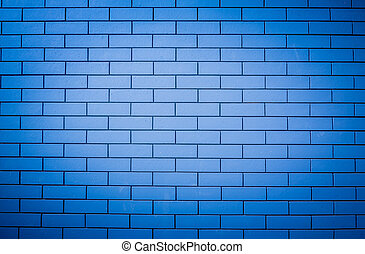 The image of a blue brick wall for use as a background