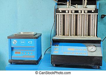 injector diagnostic and repair machine