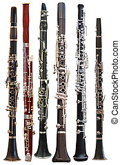 clarinet - The image of a clarinet isolated under the white...