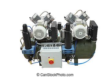 compressor - The image of a compressor under the white...