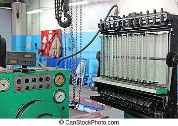 diesel injector diagnostic and repair machine