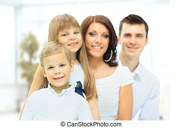 the image of a happy family