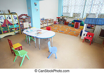 Kindergarten Preschool Classroom Interior - the image of a...