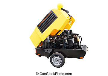 The image of a movable compressor