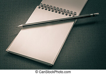 The image of a notebook or diary for a background