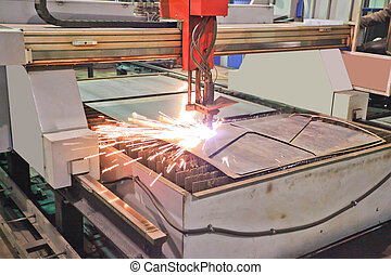 plasma cutting - The image of a plasma cutting