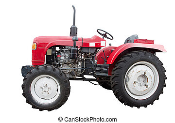 small tractor - The image of a small tractor without roof