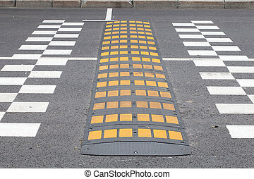 speed bump - The image of a speed bump