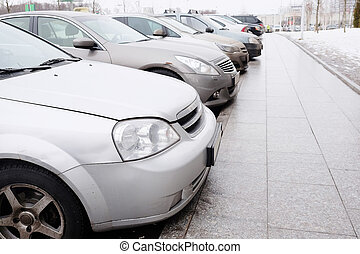 vehicles parked in parking lot