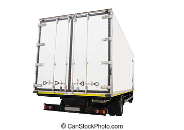 van - The image of back part of a van