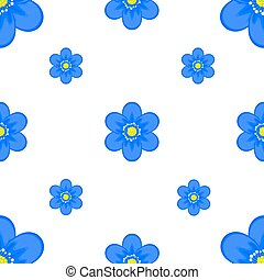 The image of blue flowers on a white background.