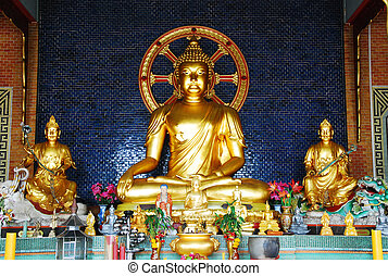 the image of buddha in temple